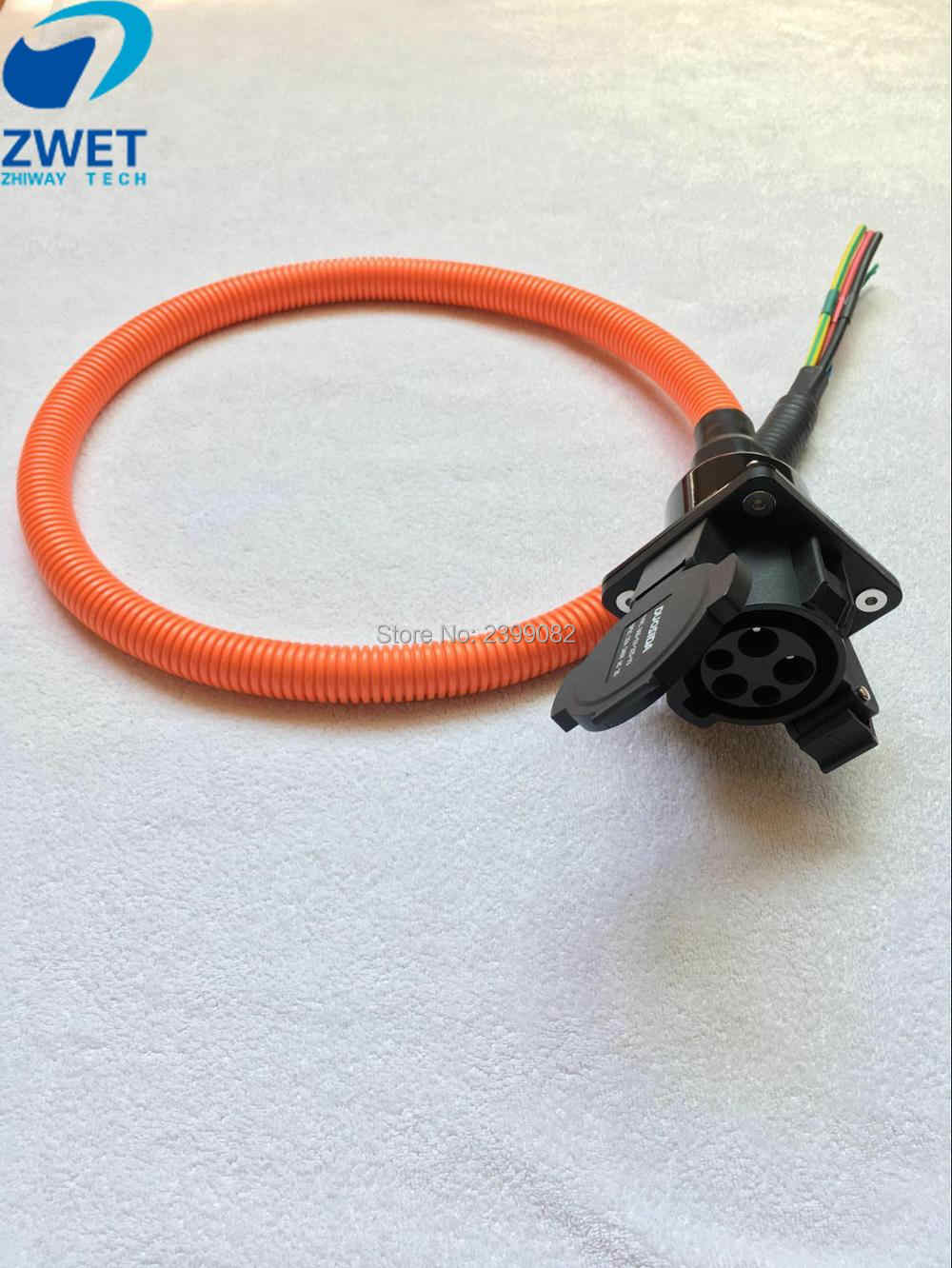 zwet sae j1772 male female charger ev charging connector plug electric vehicle charge socket 32 a [ 1000 x 1332 Pixel ]