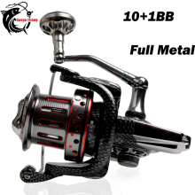 11BB Sea Fishing Reel Ratio 4.7:1 Big Spool Surf Long Casting Trolling Reels Feeder Spinning Fishing Reel Saltwater