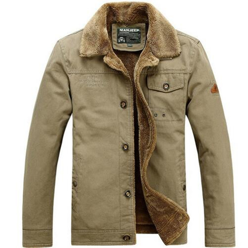 Size L-4XL loose Winter Down Parka Men's Jackets and Coats Military Snow Brand-Clothing  Thick Natural Cotton Fabric  plus size 4xl bust 132cm winter mens jackets and coats brand nianjeep thick warm cotton clothing new arrival military