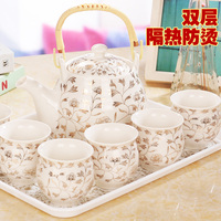 China Jingdezhen ceramic tea set tea tray kitchen office utensils gifts to friends and family