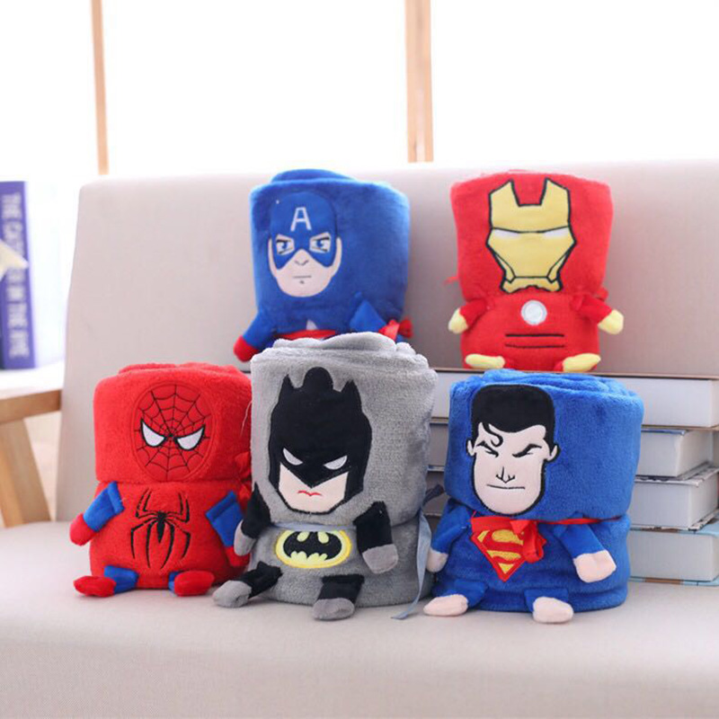 Superheroes Plush Blanket, Summer Single Flannel Blanket, Office Air-conditioned Blanket, Nap Blanket