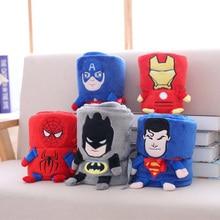 Супермен Человек-паук Бэтмен Железный человек плюшевые Одеяло, летние фланель Одеяло, офис кондиционером Одеяло, сон Одеяло