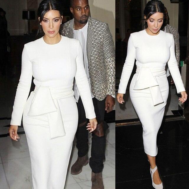 Sexy Kim Kardashian Bodycon Evening Party Dress 1