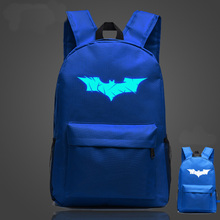 Batman Luminous Backpack College Student Fluorescent Shoulder Bag