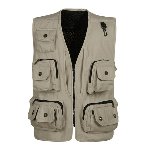 Multi Pocket Vest Photographer Clothing Journalist Reporter Mens Gilet Travel Military Working Field Sleeveless Jacket New Brand