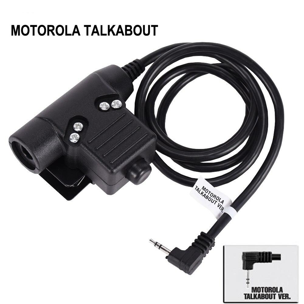 US $11 37 35% OFF|Tactical Headset PTT Plug for KENWOOD Walkie Talkie ICOM  Midland Motorola Radio Phone Military Headset Adapter U94 PTT-in Tactical