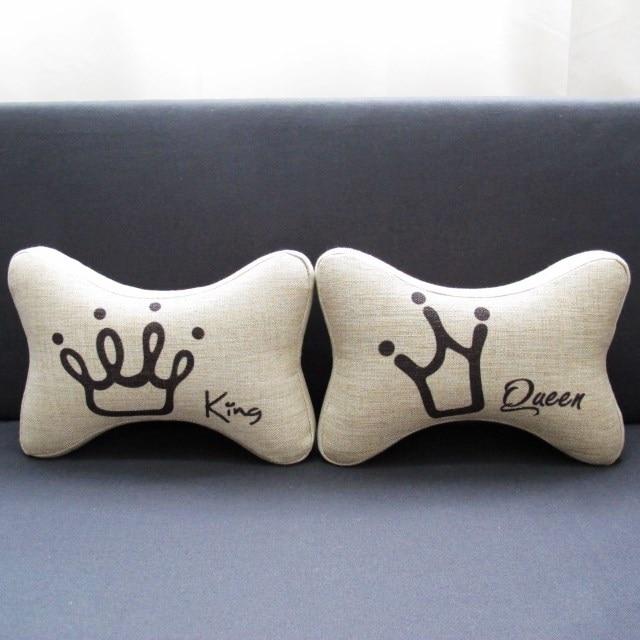 Kim Store Wholesale 40pc Queen King Lovers Linen Car HeadrestCar Best King And Queen Decorative Pillows