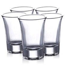 5 шт. Россия водка короткое Стекло Мини Прозрачный ликер стекло es 35 мл, ликер бренди для стакана для коктейля чашки бар посуда для напитков аксессуары