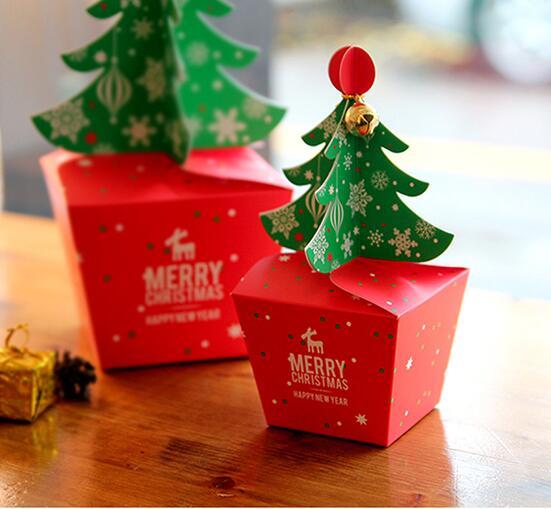 caja de pastel de navidad