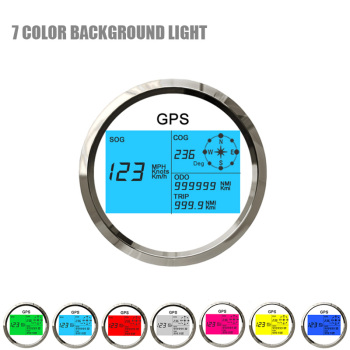 New Universal 85mm GPS Speedometer 7 Color Background Light IP67 Waterproof Kus Gauge 0~299 MPH Knots Km/h for Car Truck 12V 24V
