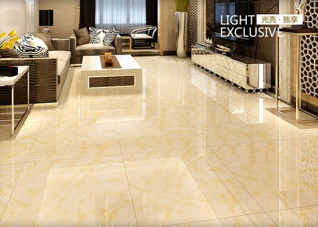 Gratis verzending 800*800 Foshan voorkomen gladde vloer gele tegels ...