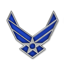 DSYCAR 3D Metal US Air Force Car sticker Logo Emblem Badge Car Styling for Universal Cars