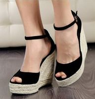 Superior Qality Summer Style Comfortable Bohemian Wedges Women Sandals For Lady Shoes High Heels Platform Open