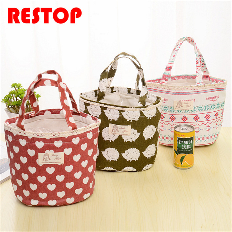 6 styles Lunch Bag Thermal Food Picnic Lunch Bags for Women kids Men Cooler Lunch Box Bag Tote RES925