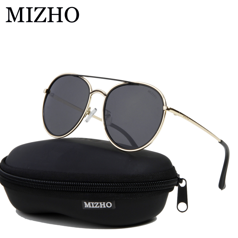 104cc09e55172 MIZHO Strong Durable Copper Frame Metal Round Womens Sunglasses Unisex  Polarized Traveling UVA Sunglass Ladies Mirror Polaroid -in Sunglasses from  Apparel ...