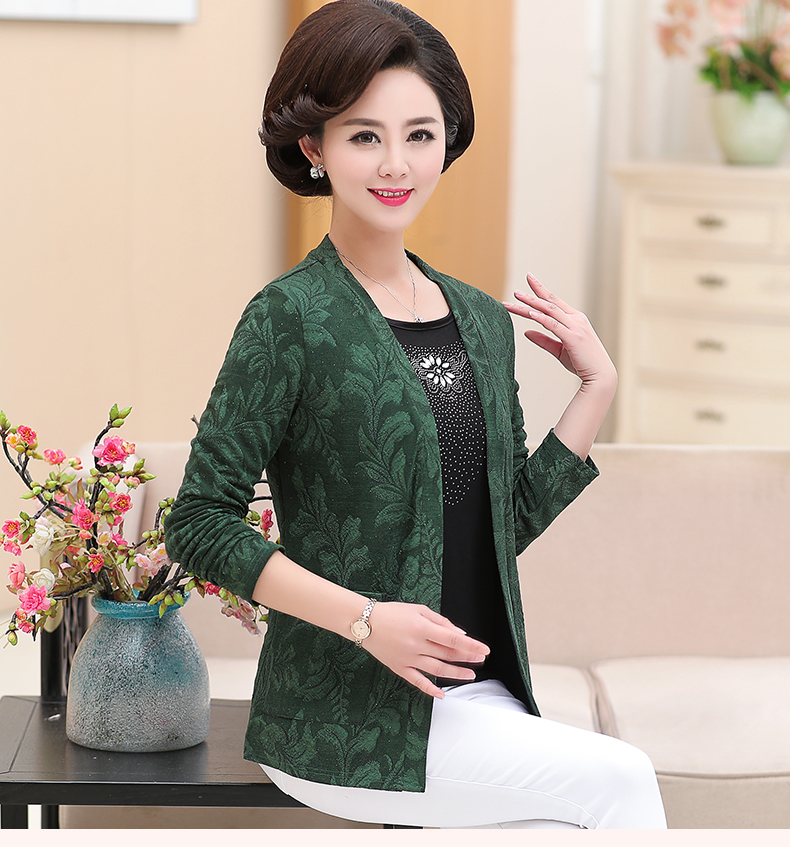 2019 Women Sequined Blouses Fake 2 Piece Top Rose Red Green Layered Shirt Faux Twinset Blouse Woman Casual Flower Shirt Top Female (14)