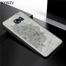 Samsung Galaxy S7 Kılıf Yumuşak Kauçuk Silikon Lüks Bez Doku Telefon Samsung kılıfı Galaxy S7 arka kapak Samsung S7