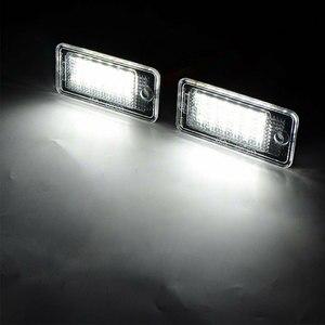 Image 4 - 2 Stuks Waterdichte 18 Leds Nummerplaat Licht Voor Audi A3 A4 A5 A6 A8 B6 B7 Q7 Witte Auto led Aantal Kentekenplaat Lampen