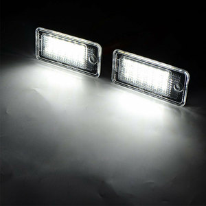 Image 4 - 2pcs Waterproof 18 LEDs Number Plate Light For Audi A3 A4 A5 A6 A8 B6 B7 Q7 White Car LED Number License Plate Lamps