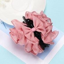Модный женский головной убор, Шифоновый Цветок розы, бант, заколка, заколка, аксессуары для волос, заколки, заколки, аксессуары для волос