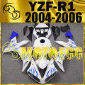 Motoegg Injection Mold  Fairings For YZF-R1 2004-2005-2006 Blue Flame+Half Tank M83 Fairing Get 3 Gifts  Motorcycle plastic