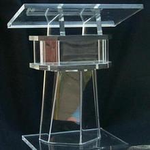 Lectern Pulpit Cheap Detachable Plexiglass Acrylic Clear Easy Beautiful