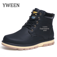 YWEEN Newest Men S Snow Boots Men Plush Warm Winter Shoes Man Big Size Boots