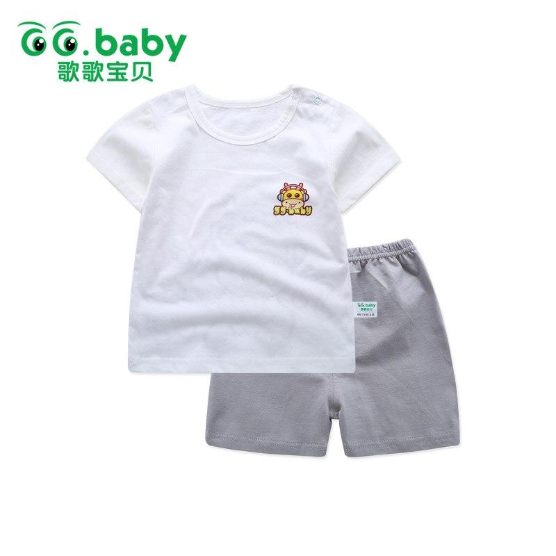 2 шт./компл. футболка Брюки для девочек комплект одежды для маленьких мальчиков короткий рукав лето Лев для новорожденных комплекты для маленьких девочек Одежда для младенцев Костюмы
