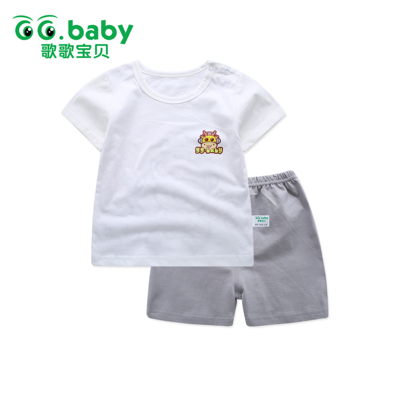 2pcs/set T-shirt Pants Set Baby Boy Clothing Set Short Sleeve Summer Lion For Newborns Baby Girl Sets Clothes Baby Outfits Suits 2pcs children outfit clothes kids baby girl off shoulder cotton ruffled sleeve tops striped t shirt blue denim jeans sunsuit set