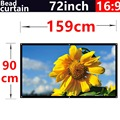 72Inch 16:9 Bead curtain Fabric High-definition2.8 Gain projection screen Wall Mounted for all Low brightness led dlp projectors