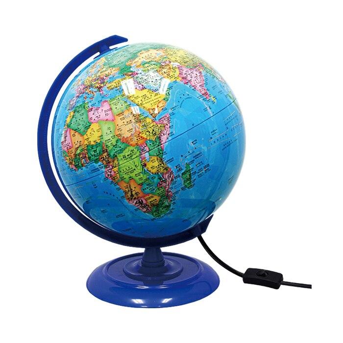 Plastique Dia 20cm Hd bleu océan en Version anglaise et chinoise lumière LED Globe terrestre Articles d'ameublement étudiant - 3