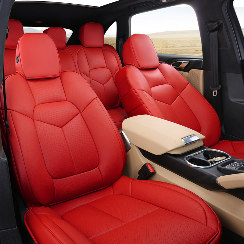 Special Leather Car Seat Covers For Porsche Cayenne Macan: Fashion High Quality Pu Leather Customized Car Seat Cover