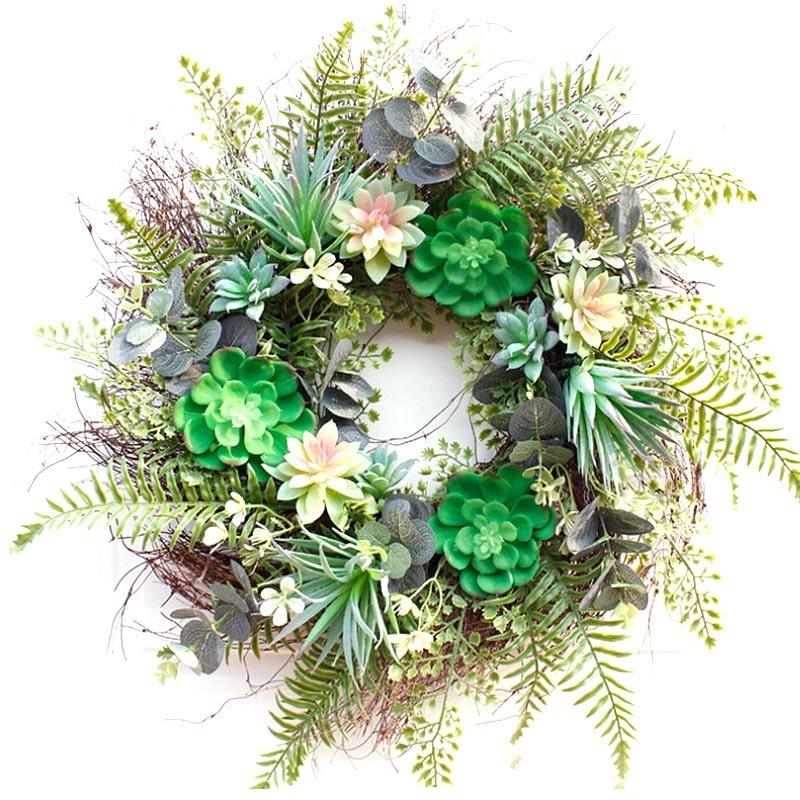 Hanging Artificial Flowers Wreath for Home Garden Door Walls Fake Flower Decor Garland Christmas Festival Wedding Decoration