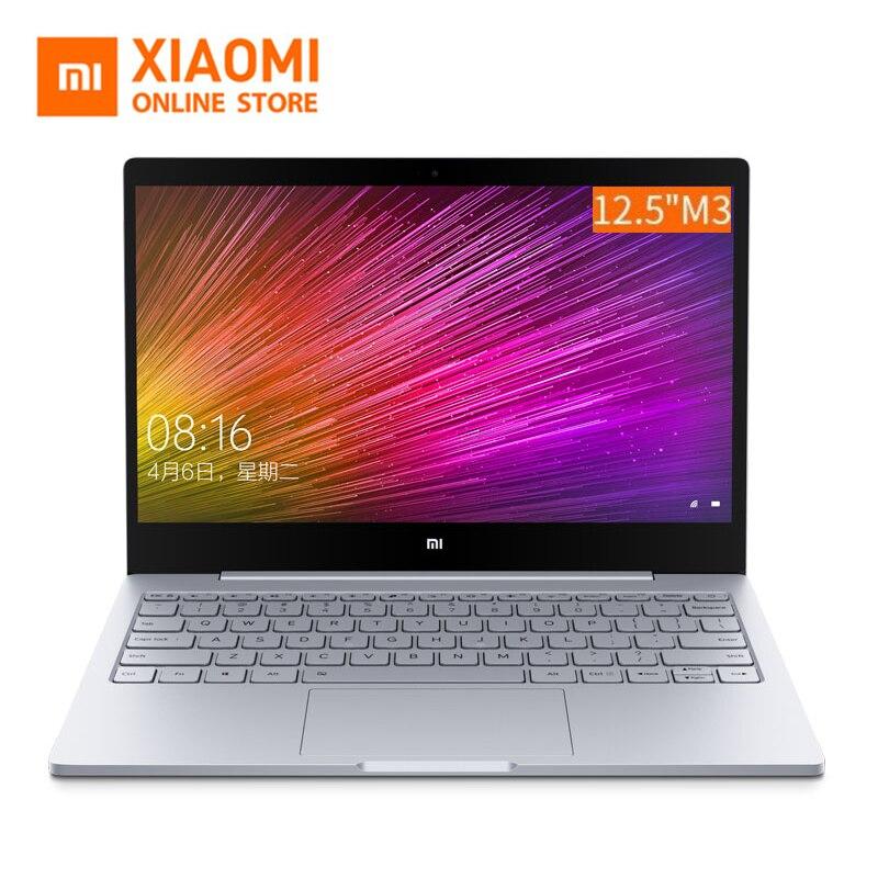 2019 Xiao mi mi ordinateur portable Air 12.5 pouces M3 8100Y double noyau 4 GB RAM corps en métal anglais Windows 10 2.4G 5.0G double WiFi