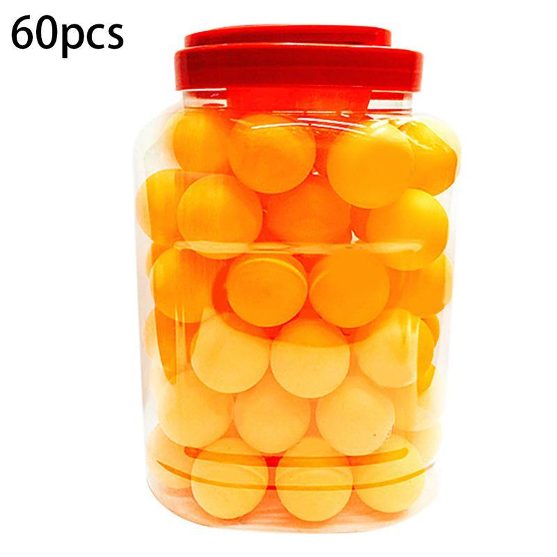 60 шт./компл. мячи для настольного тенниса обучение для начинающих шарики для пинг-понга 3 звезды из АБС-пластика бесшовные прочный спортивных аксессуаров - Цвет: Yellow