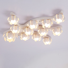 New arrival patent modern led chandelier lighting for living room bedroom children's room flower shapes 9003