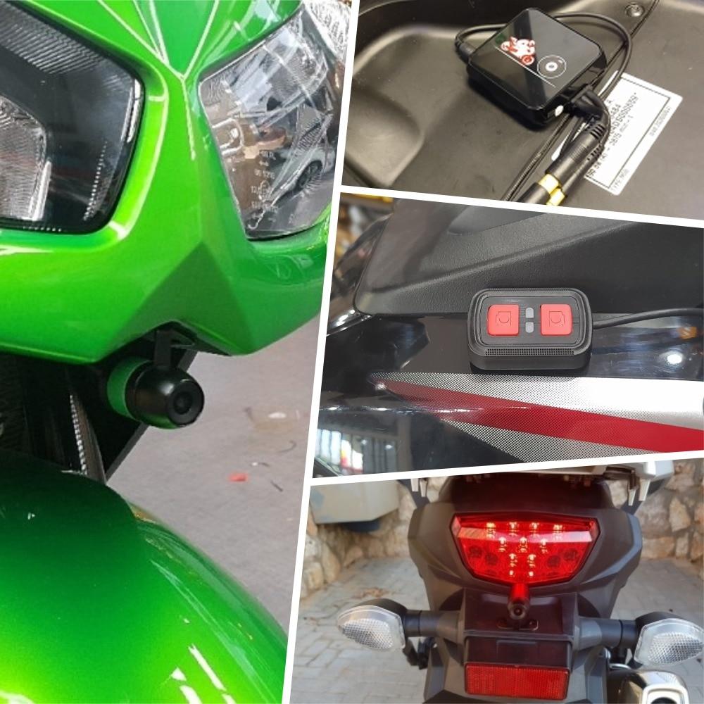 SYS VSYS M6L P6L WiFi Motocicleta DVR Traço Cam Full HD 1080 P + 720 P Frente Retrovisor À Prova D' Água motocicleta Câmera Black Box Recorder - 6