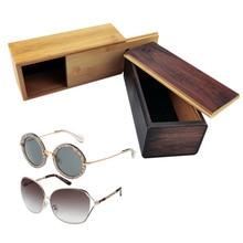 New Handmade Wood Glasses Case Ancient Ways High Grade Natural Bamboo Box Sunglasses Boxes Wooden Eyewear/Sunglasses Packaging