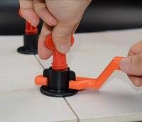 50 개/갑 재사용 가능한 anti-lippage 타일 레벨링 시스템 바닥재 벽 타일 레벨링 시스템 레벨 웨지 타일 스페이서