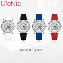 Women's watch Japan viger luxury brand quartz movement dynamic dial waterproof leather strap bracelet gir gift watches L1043 цена в Москве и Питере