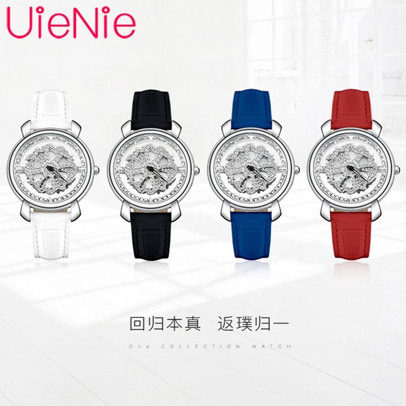 Women's watch Japan viger luxury brand quartz movement dynamic dial waterproof leather strap bracelet gir gift watches L1043