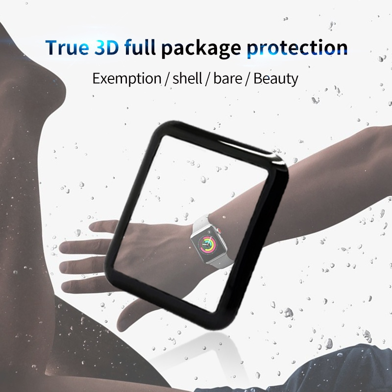 Image 3 - 4D/3D curved surface Tempered Glass Film For Apple watch Full Glue waterproof Screen Protector for Apple Series 1/2/3 Film-in Phone Screen Protectors from Cellphones & Telecommunications on