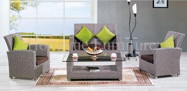 Rattan sofa set muebles de mimbre muebles de exterior