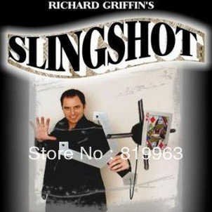 Slingshot by Richard Griffin - Stage Magic Trick,illusions,flower magic,close up magic,comdy props,card magic light heavy box stage magic floating table close up illusions accessories mentalism magic trick gimmick