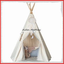 New design kids play tent indian teepee children playhouse children play room teepee with a dream catcher