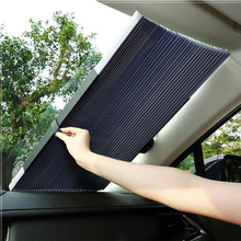 Автоматический телескопический Регулируемый автомобильный солнцезащитный козырек для окна, солнцезащитный козырек для переднего лобового стекла, солнцезащитный зонтик, автомобильные шторы