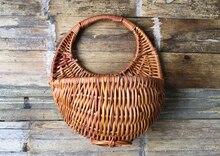 2017 creative cane hanging basket flower pot rural home decorations sundry storage basket A style