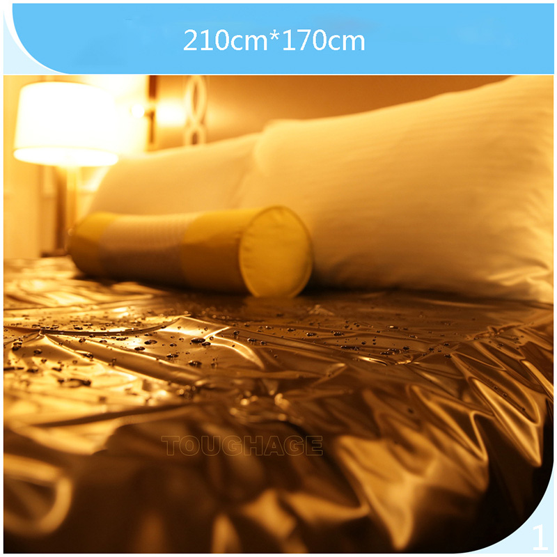 Funny toy Waterproof Adult Bed Sheets Sex PVC Vinyl Mattress Cover Allergy Relief Bed Bug Sex Gags & Practical Jokes image