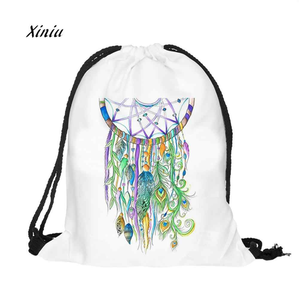 Detail Feedback Questions about Women Fashion Colorful Dream Catcher Drawstring  Bag Unisex Backpacks 3D Printing Bags Drawstring Backpack School Shoulder  ...