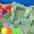 6 unids/set castillo de la arena de arcilla molde portátil bebé niños educativo juguetes de construcción lugares de interés castillo de arena la arena de playa